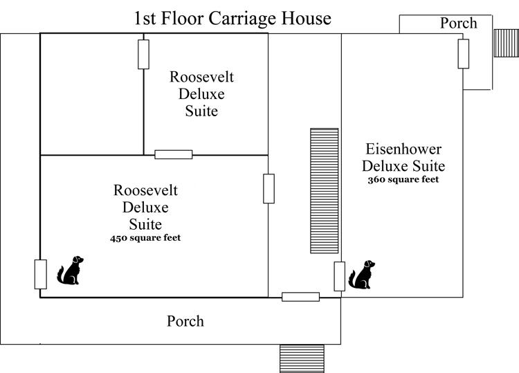 Floor Plan Carriage House The Glynn House Inn Bed Breakfast